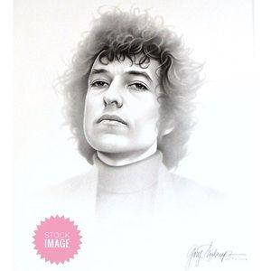 """Bob Dylan Lithograph Print 20""""x24"""" by Saderup 2001"""